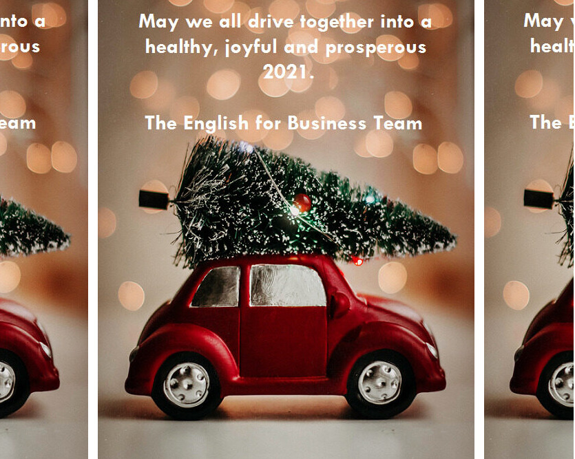 Merry Christmas and Happy New Year from English for Business